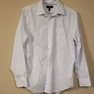 Pale blue and white striped dress shirt